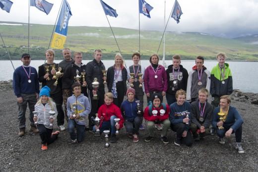 Allir verðlaunahafarnir á Akureyri